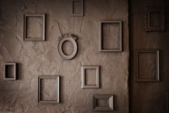 Empty Vintage  Frames on a  Grungy Background Royalty Free Stock Images