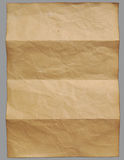 Empty Vintage old paper. On gray background Royalty Free Stock Photo
