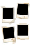 Empty vintage photo frames. Collection of empty vintage photo frames stock illustration