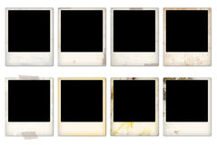 Empty vintage photo frames Royalty Free Stock Photos