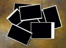 Empty vintage photo frames Royalty Free Stock Photo