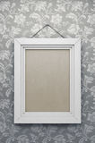 Empty vintage picture frame. 3d rendering Stock Photo
