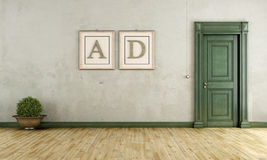 Empty vintage room Royalty Free Stock Images