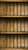 Empty vintage rustic wooden shelves Royalty Free Stock Photo