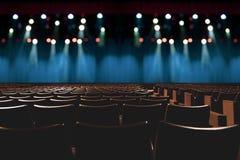 Empty vintage seat in auditorium or theater stock photos