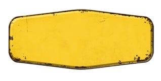 Free Empty Vintage Tin Sign On A White Background Stock Photos - 164126703