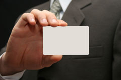 Empty visiting card Royalty Free Stock Photo