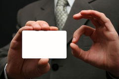 Empty visiting card royalty free stock photos