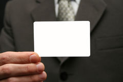 Empty visiting card Stock Photo