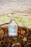 Empty vodka bottle Stock Photo