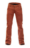 Empty voluminous brown jeans Royalty Free Stock Image
