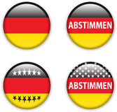 Empty vote badge button for germany elections Royalty Free Stock Images