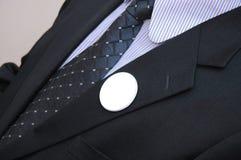 Empty vote badges. Politician with empty badges, Vote concept Stock Image