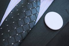 Empty vote badges. Politician with empty badges, Vote concept Stock Images