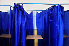 Empty voting booths Royalty Free Stock Photography
