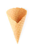 Empty wafer cup Royalty Free Stock Images