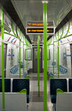 Empty Wagon. An empty wagon on the London Underground Stock Images
