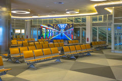 Empty Waiting area on airport Stock Images