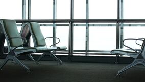 Empty waiting room at the airport