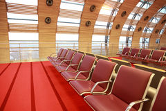 Empty waiting room at airport Royalty Free Stock Image
