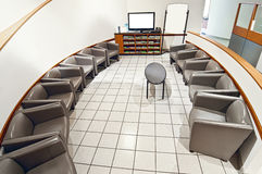 Empty Waiting Room With Blank Whiteboard and TV Revised Royalty Free Stock Photography