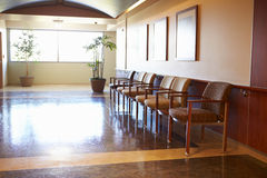 Empty Waiting Room In Modern Hospital Stock Image