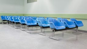 Empty waiting seats in hospital Royalty Free Stock Photo