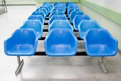 Empty waiting seats in hospital Royalty Free Stock Photos