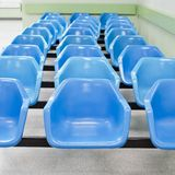 Empty waiting seats in hospital Royalty Free Stock Images