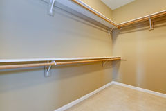 Empty walk-in closet Royalty Free Stock Photos