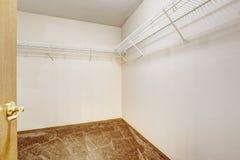 Empty walk-in closet Royalty Free Stock Photos