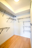 Empty walk-in closet Royalty Free Stock Image