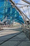 Walk way on The Helix bridge in Singapore Stock Images