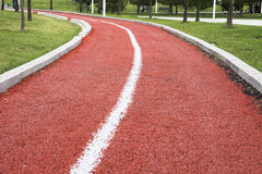 Free Empty Walking / Running Track Along The Park Stock Image - 47947111