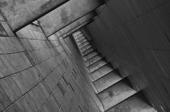 Empty Walkway Black and White Photo Royalty Free Stock Photos