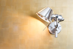 Empty wall for exhibit. Lamp on the wall background Royalty Free Stock Photography