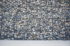 Empty wall made of stones and concrete pavement Royalty Free Stock Photos