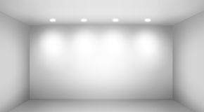 Empty wall in a room with light spots Stock Photography