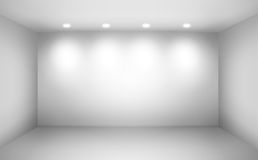 Empty wall in a room. With lights Royalty Free Stock Photography
