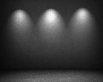 Empty wall with spot lights Stock Photography