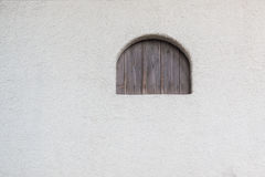 Empty wall texture with closed window. Stock Image