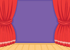 Empty wall vector illustration Royalty Free Stock Photo