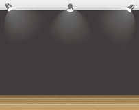 Empty Wall for Your Text and Images, Vector Illustration Royalty Free Stock Images