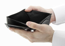 Empty wallet. Clipping path included Stock Photography