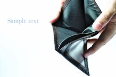Empty Wallet. An empty brown leather wallet Royalty Free Stock Image