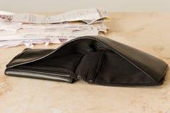 Empty wallet Royalty Free Stock Photos