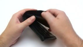 Empty Wallet stock footage