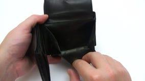 Empty Wallet stock footage