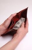 Almost empty wallet Stock Photos