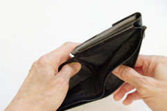 empty wallet 库存照片